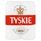 TYSKIE Gronie Piwo jasne pelne w puszce (4x500ml) 2l