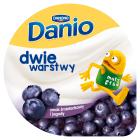 DANONE Danio Dwie warstwy Serek homogenizowany o smaku śmietankowym z jagodami 120g