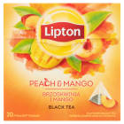 LIPTON Herbata czarna z mango i brzoskwinią 20 torebek 36g