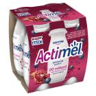 DANONE Actimel Napój mleczny granat-jagoda-maca 4 szt. 400g