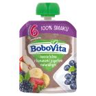 BOBOVITA 100% SMAKU Owoce leśne z bananem i jogurtem naturalnym po 6 miesiącu 80g
