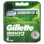 GILLETTE Mach3 Sensitive Ostrza wymienne do maszynki do golenia 4 sztuki 1szt