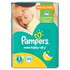 PAMPERS New Baby Pieluchy Rozmiar 1 Newborn (2-5kg) 43 szt 1szt
