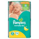 PAMPERS New Baby Pieluchy Rozmiar 2 Mini (3-6kg) 76 szt 1szt