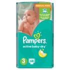 PAMPERS Active Baby Pieluchy Rozmiar 3 Midi (4-9kg) 68 szt 1szt