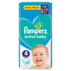 PAMPERS Active Baby Pieluchy Rozmiar 4 Maxi (8-14kg) 58 szt 1 szt