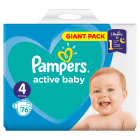PAMPERS Active Baby Pieluchy Rozmiar 4 Maxi (8-14kg) 76 szt 1 szt