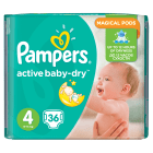 PAMPERS Active Baby Pieluchy Rozmiar 4 Maxi (8-14kg) 36 szt 1 szt