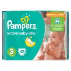 PAMPERS Active Baby Pieluchy Rozmiar 3 Midi (4-9kg) 42 szt 1szt