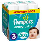 PAMPERS Active Baby Dry Pieluchy Rozmiar 3 Midi (4-9kg) 208 szt Zapas na miesiąc 1szt