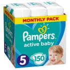 PAMPERS Active Baby Dry Pieluchy Rozmiar 5 Junior (11-18kg)  150szt Zapas na miesiąc 1szt