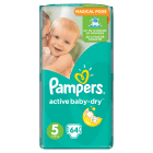 PAMPERS Active Baby Dry Pieluchy Rozmiar 5 Junior (11-18kg) 64 szt. 1 szt