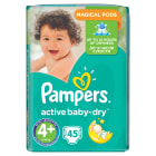PAMPERS Active Baby Dry Pieluchy Rozmiar 4+ Maxi+ (9-16kg) 45 szt 1 szt