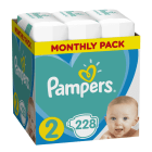 PAMPERS New Baby Dry Pieluchy Rozmiar 2 Mini (3-6kg) 3x76 szt Zapas na miesiąc 1szt