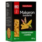 NATURAVENA Makaron bezglutenowy kukurydziany z quinoa świderki 250g
