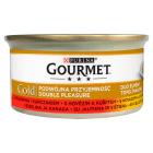 GOURMET Gold Pokarm dla kotów - mix wołowina i kurczak (puszka) 85g