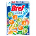 BREF Perfume Switch Zawieszka do WC - Słodka brzoskwinia-Czerwone jabłko 2x50g 1szt