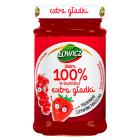 ŁOWICZ 100% z owoców Dżem extra gładki truskawka czerwona porzeczka 235g