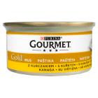 GOURMET Gold Pokarm dla kotów - mus z drobiem (puszka) 85g