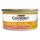 GOURMET Gold Pokarm dla kotów - łosoś i kurczak w sosie (puszka) 85g