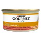 GOURMET Gold Karma dla dorosłych kotów z kaczką i indykiem w brązowym sosie 85g
