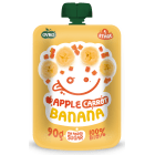 OVKO Przecier jabłko, banan, marchew bez cukru - po 6 miesiącu BIO 90g
