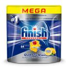 FINISH POWERBALL Quantum MAX Kapsułki do zmywarki Lemon Sparkle 64 szt. 1szt