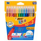 BIC Kids Kolorowe flamastry zmywalne 12 szt. 1szt