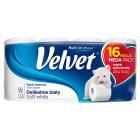 VELVET Delikatnie Biały Papier toaletowy 16 rolek 1szt