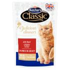 BUTCHER'S Classic Karma dla dorosłych kotów kawałki w sosie z wołowiną 100g