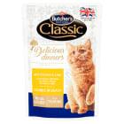 BUTCHER'S Classic Karma dla kotów kawałki w sosie z kurczakiem i wątróbką 100g