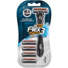 BIC Flex 3 Hybrid Maszynka jednoczęściowa do golenia + 4 wymienne wkłady 1szt