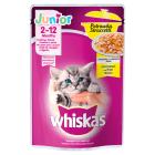WHISKAS Junior Potrawka Pokarm dla Kotów z Kurczakiem w Galaretce 85g