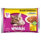 WHISKAS 1+ Pokarm dla Kotów - Smaki Drobiowe w Galarecie (4 saszetki) 400g