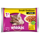 WHISKAS 1+ Pokarm dla Kotów - Smaki Drobiowe w Sosie (4 saszetki) 400g