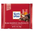 RITTER SPORT Czekolada mleczna z rumem i bakaliami 100g