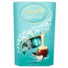 LINDT Lindor Praliny z czekolady mlecznej z nadzieniem kokosowym 200g