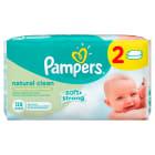 PAMPERS Natural Clean Chusteczki pielęgnacyjne bezzapachowe 2x64 szt 1szt