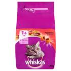 WHISKAS 1+ Pokarm Suchy Pełnoporcjowy dla Kotów z Wołowiną i Wątróbką 1.4kg