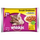 WHISKAS 1+ Pokarm dla Kotów - Wybór Dań Drobiowych w Galaretce (4 saszetki) 400g