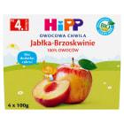HIPP Owocowa Chwila Przecier owocowy Jabłka-Brzoskwinie - po 4 miesiącu (4x100g) BIO 400g