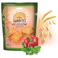 SUNBITES Herbatniki wielozbożowe o smaku papryki z ziołami 100g