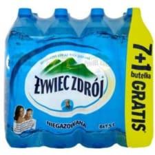 ŻYWIEC ZDRÓJ Naturalna woda źródlana niegazowana 1,5l 7 +1 gratis 12l