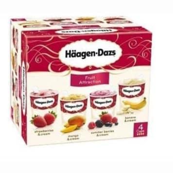 Fruit Attraction 400 ml - HAAGEN-DAZS. Zestaw wyśmienitych lodów w czterech smakach.