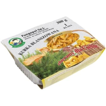 Kurki blanszowane mrożone Fungopol - smak letnich grzybów dostępny cały rok.