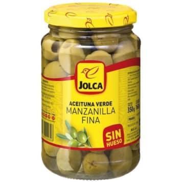 Oliwki zielone bez pestek - Jolca. Pochodzą z prowincji Sewilla, która słynie z uprawy oliwek.