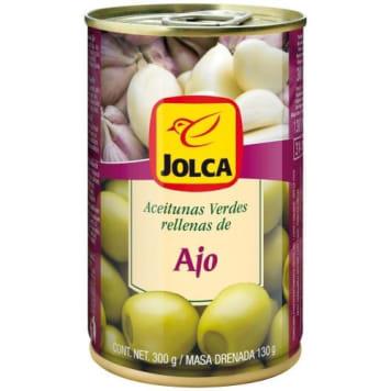 Jolca - Oliwki zielone z czosnkiem w puszce będą doskonale pasować do różnych sałatek i koreczków.