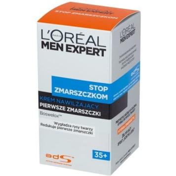 Loreal - Krem przeciwzmarszczkowy 35+ dla mężczyzn intensywnie nawilża pierwsze zmarszczki.