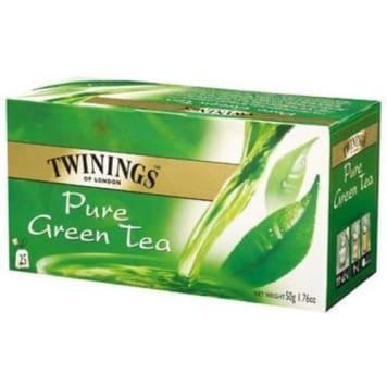 Herbata ekspresowa Green Pure Twinings - źródło antyoksydantów i polifenoli pośród zielonych herbat.