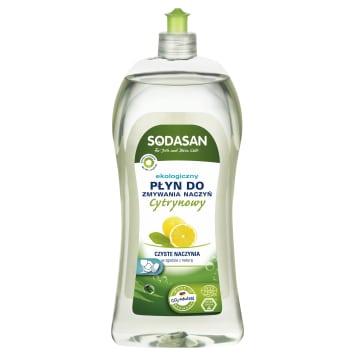 Uniwersalny płyn do mycia naczyń Sodasan jest pochodzenia roślinnego. Skutecznie czyści.